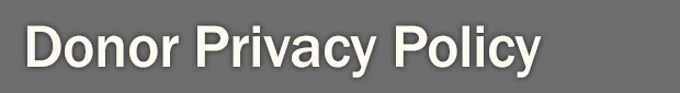 Donor Privacy Policy Header